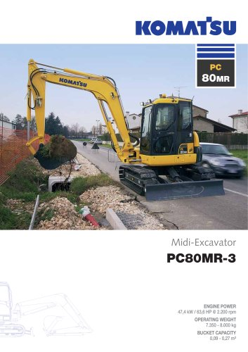 Midi Excavators PC80MR-3