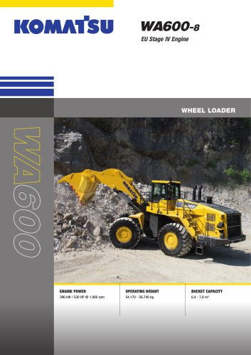 Wheel Loaders WA600-8
