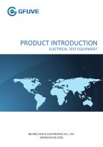 PRODUCT INTRODUCTION ELECTRICAL TEST EQUIPMENT
