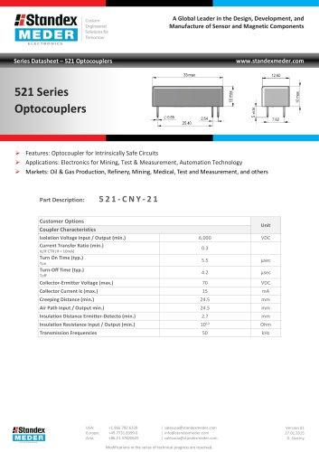 Optocoupler 521 Series