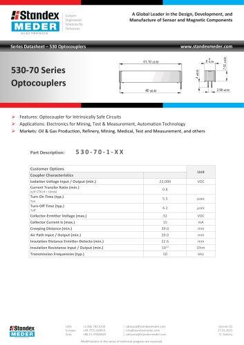 Optocoupler 530-70 Series