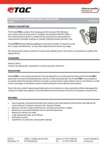 PowderTAG Thickness Analysing Gauge LD5850