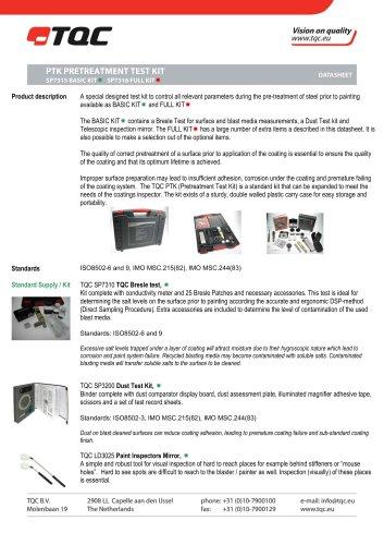 PTK pretreatment test Kit