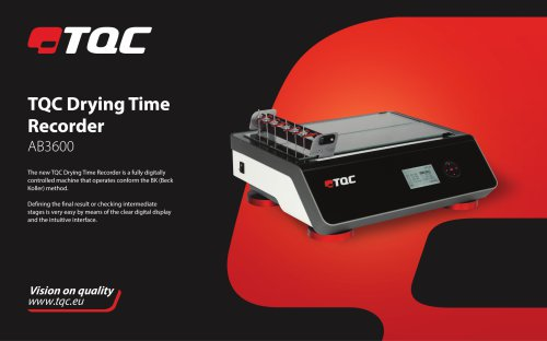 TQC Drying Time Recorder AB3600
