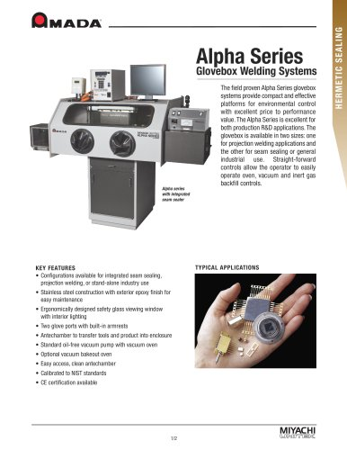 Alpha Series Glovebox Systems