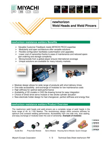 Custom Configured Spot Welding Heads - New Horizon