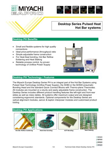 Desktop Hot-Bar Bonding Systems - DT Series