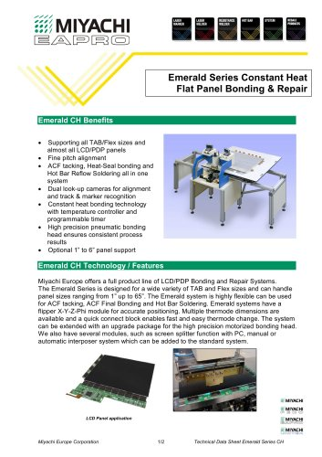 Emerald Series Constant Heat Flat Panel Bonding & Repair