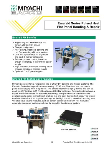 Emerald Series Pulsed Heat Flat Panel Bonding & Repair