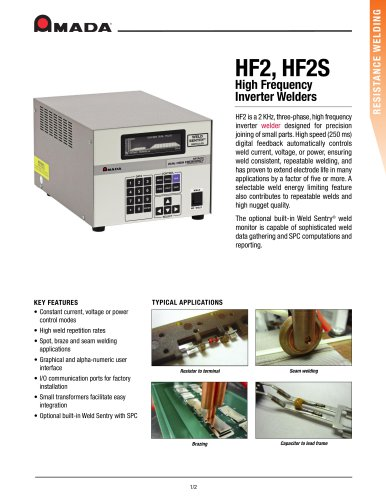 HF2, HF2S High Frequency Inverter Welders