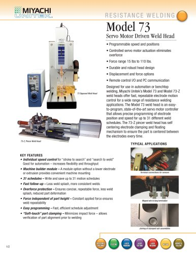 High Force Servo Motor Driven Spot Welding Head - 73 Head