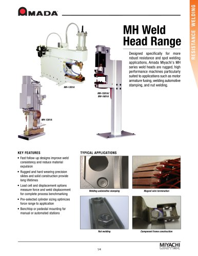 High Force Spot Welding Heads - MH Series