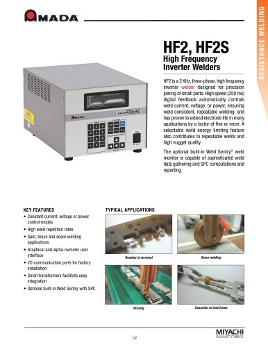 High Frequency Inverter Spot Welding Power Supply - HF2
