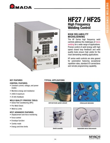 High Frequency Inverter Spot Welding Power Supply - HF27, HF25
