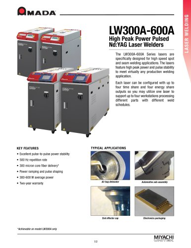 High Speed Laser Welders - 300 to 600W