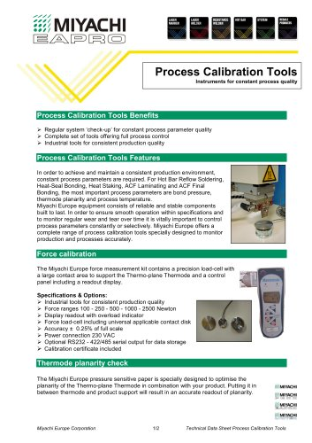 Hot Bar Process Calibration Tools