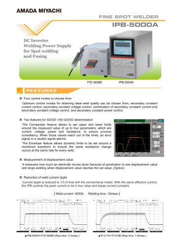 Inverter Resistance Welding Power Supply - IPB5000A