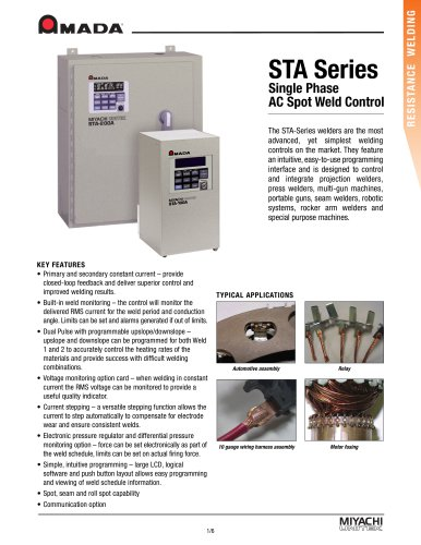 Large Scale AC Resistance Weld Controls - STA Series