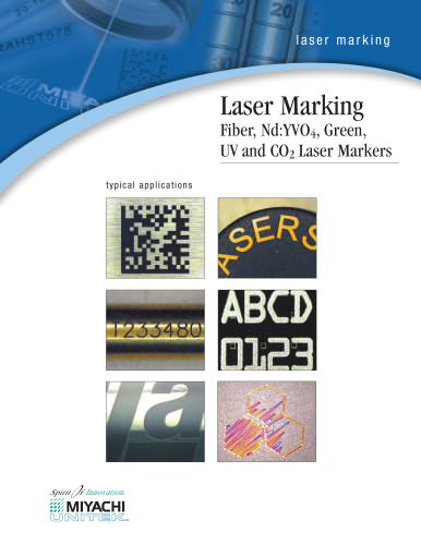 Laser Marking Fiber, Nd:YVO4, Green, UV and CO2 Laser Markers
