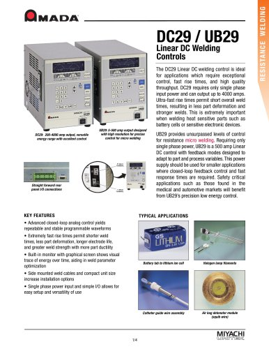 Low Power Linear DC Spot Weld Control - UB29