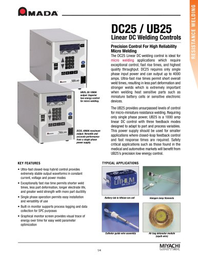 Low Power Linear DC Weld Control - UB25