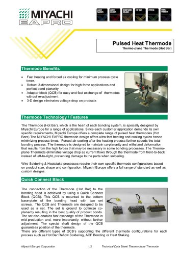 Pulsed Heat Thermode Thermo-plane Thermode (Hot Bar)