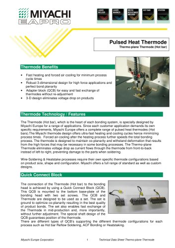 Thermoplane Thermodes Technical Datasheet