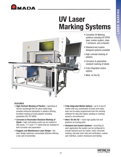 UV Laser Marking Systems
