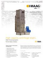 High-Capacity Model - Centrifugal pellet dryer Brochure en