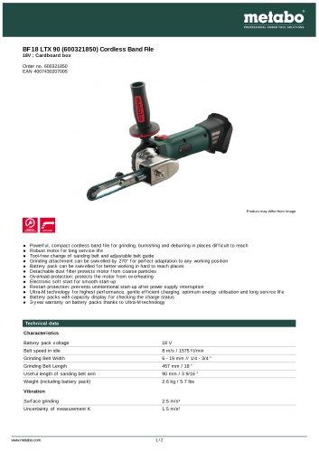 BF 18 LTX 90 (600321850) CORDLESS BAND FILE