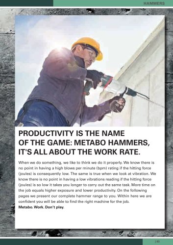 Hammers, Impact Drills, Drills, Screwdrivers