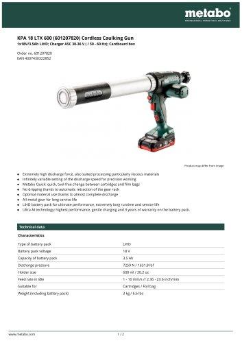 KPA 18 LTX 600