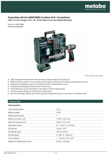 PowerMaxx BS Set (600079880) Cordless Drill / Screwdriver