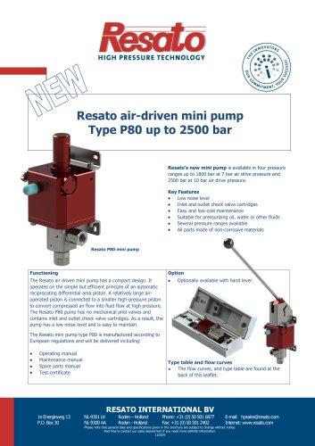 Air driven mini pump