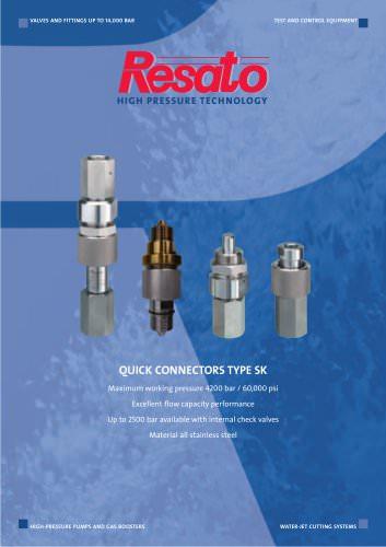 High pressure quick connectors