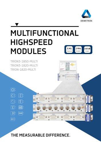 Multifunctional Highspeed Modules (TRION3 series modules)
