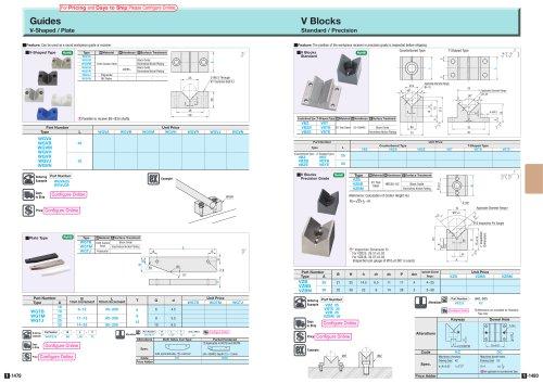 Guides V-Shaped / Plate