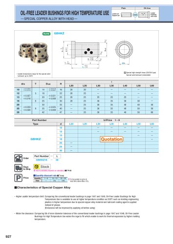 OIL-FREE LEADER BUSHINGS FOR HIGH TEMPERATURE USE