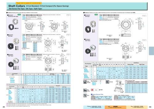 Shaft Collars -D Cut Standard / D Cut Compact (For Space Saving)-