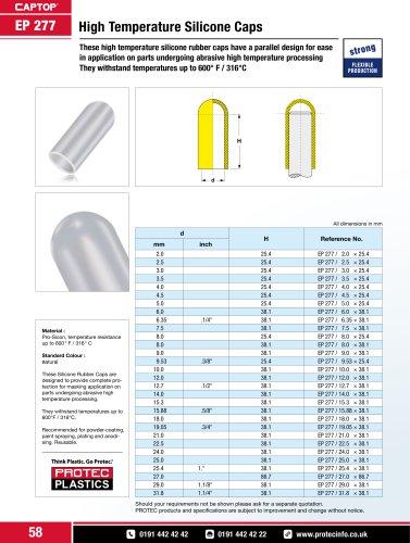 Captop EP 277 High temperature silicone caps