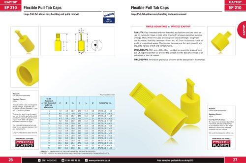 EP 210 Flexible Pull Tab Caps