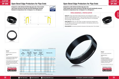 EP 250 Open Bevel Edge Protectors for Pipe Ends