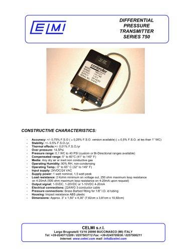DIFFERENTIAL PRESSURE TRANSMITTER SERIES 750