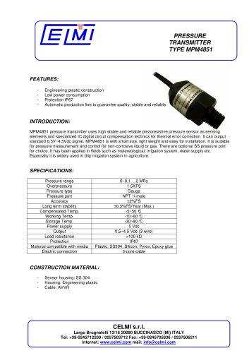 MPM4851 pressure transmitter