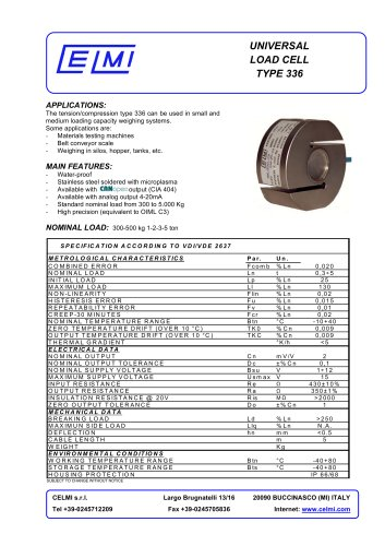 UNIVERSAL LOAD CELL TYPE 336
