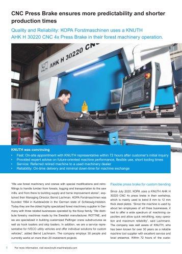 Customer Success Story: AHK H 30220 CNC