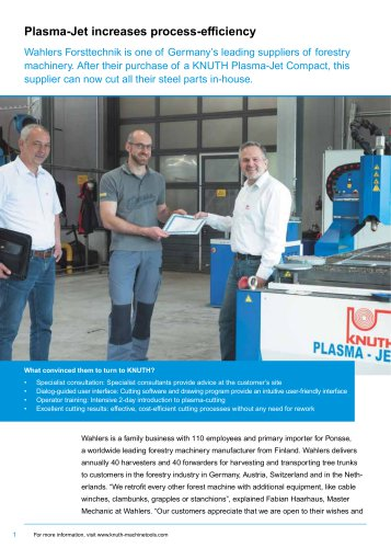 Customer Success Story: Plasma-Jet Compact