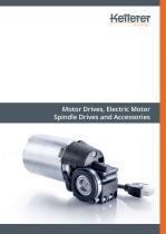 Catalog: Motor Drives , Electric Motor Spindle Drives and Accessories