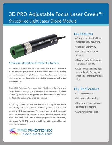 Adjustable Focus 3D PRO Laser Green