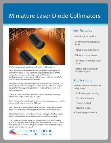 Miniature Laser Diode Collimators